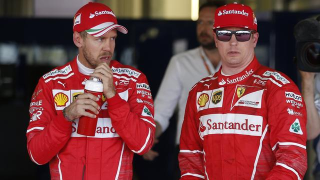 Vettel neemt het op voor teamgenoot Raikkonen