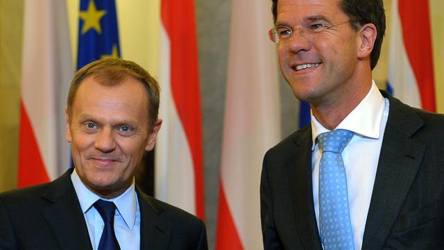 Rutte ontvangt zaterdag EU-president Tusk