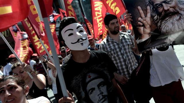 Honderden gestraft voor protesten tegen regering in Istanbul