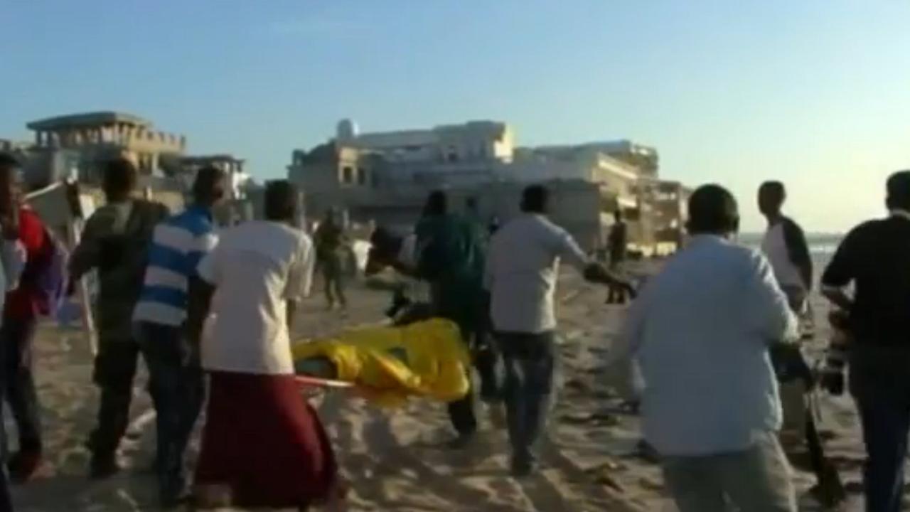 Ravage na aanslag op strandtenten in Somalië