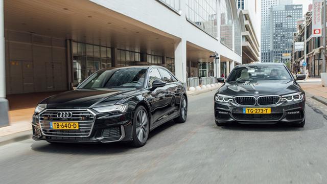 Eerste dubbeltest: de nieuwe Audi A6 tegen de BMW 5 Serie