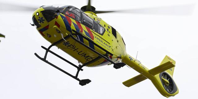 Traumahelikopter landt op IJburg na melding schietpartij