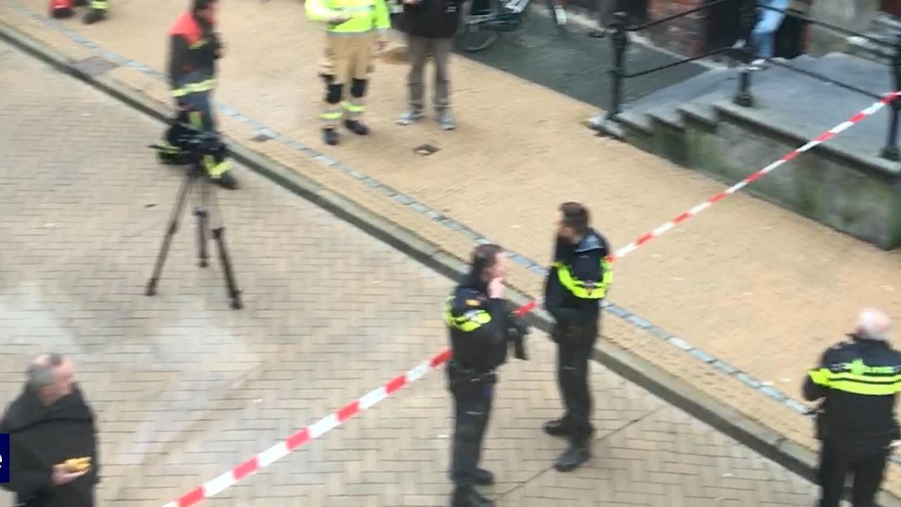 Politie zet straat af om poederbrief Universiteit Groningen