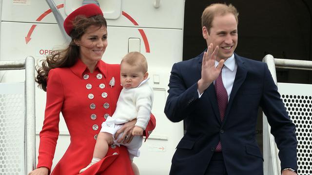 Prins George bij zijn allereerste staatsbezoek, in 2014 aan Australië.