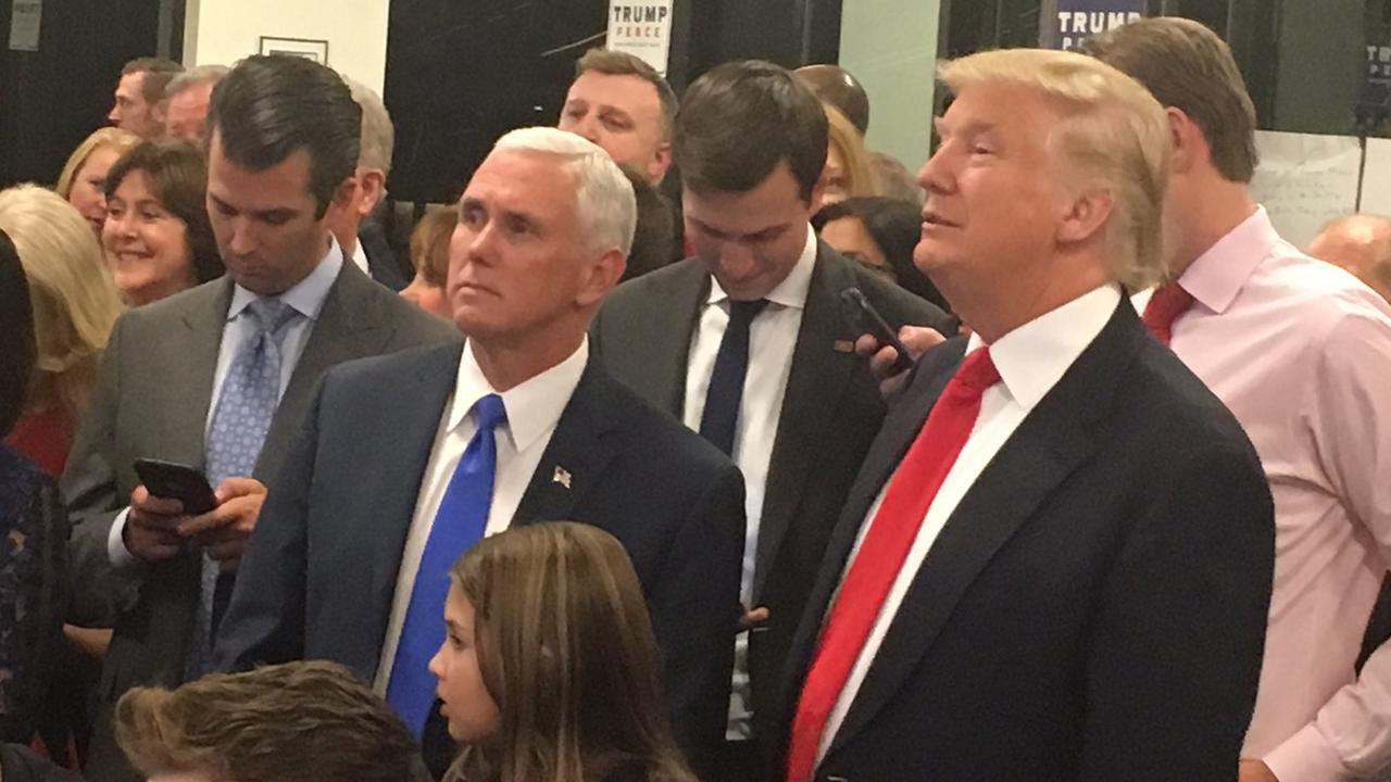 Gejuich in kamp Trump, aanhangers Clinton somber