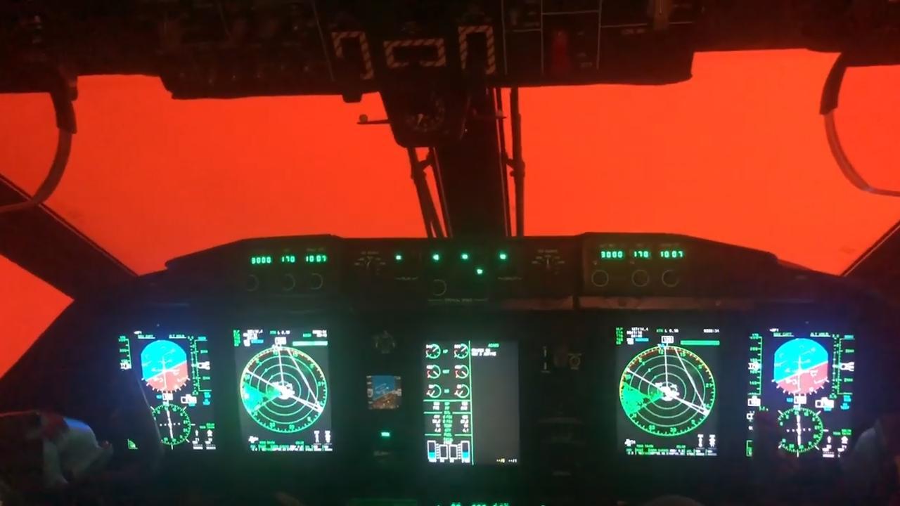 Rode gloed belemmert zicht van Australische piloten