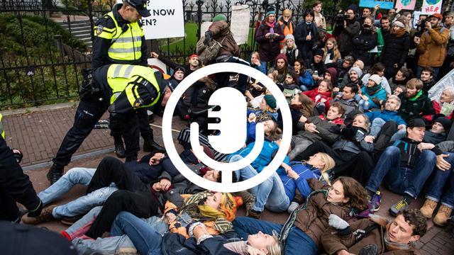 NU.nl bij klimaatprotest: 'Ik was bang dat ik werd opgepakt'