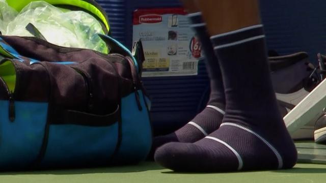 Kyrgios vergeet tennisschoenen voor partij in Cincinnati