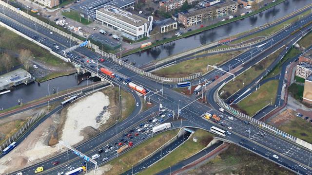 Verkeer op A28 komend weekend omgezet naar tijdelijk viaduct