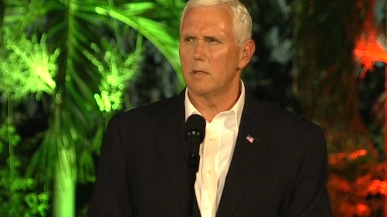 Vicepresident Mike Pence vertrouwt op vredige oplossing Venezuela