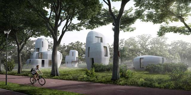 In Eindhoven komen de eerste 3D-geprinte huizen van Nederland