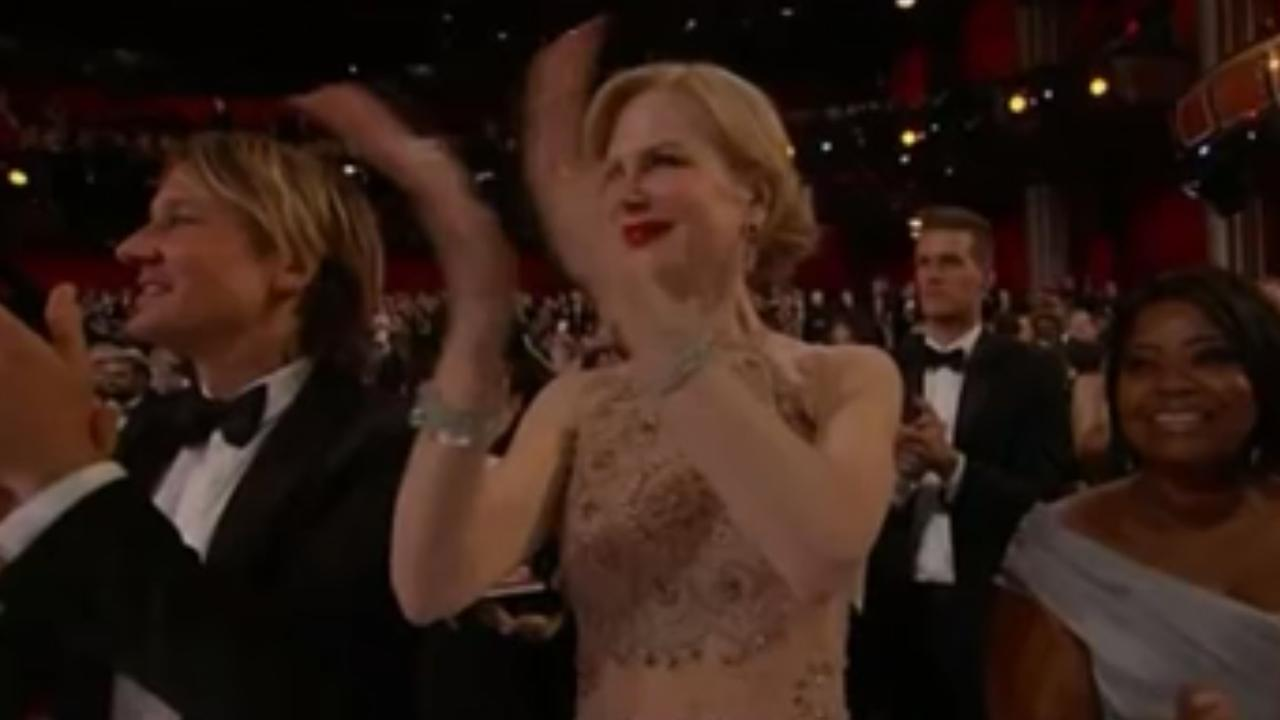 Ophef over apart applaus Nicole Kidman bij Oscars