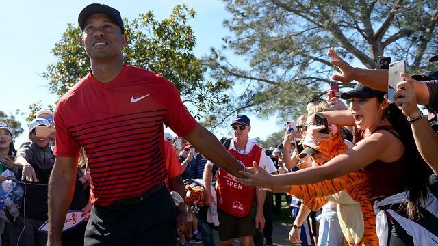 Tiger Woods tevreden met pijnvrije rentree op golfbaan