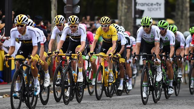 Team Sky won zeven keer de Tour de France.