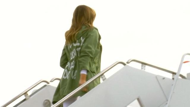 Trump niet eens met kritiek op 'onbeleefde' jas Melania