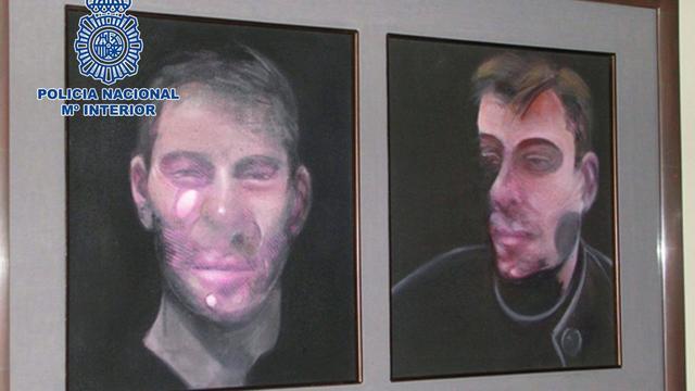 Spaanse politie vindt gestolen doeken Bacon terug
