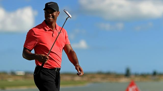 Woods ziet toekomst zonnig in na sterke rentree op golfbaan