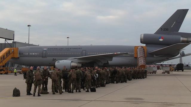 Nederlandse militairen vertrekken naar Noorwegen
