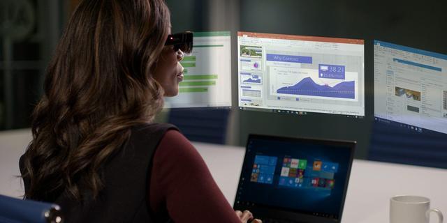 Slimme Lenovo-bril projecteert tot vijf zwevende computerschermen