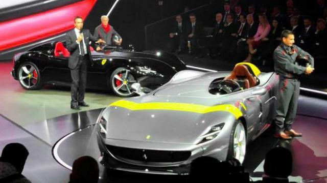 Ferrari toont nieuwe modellen op besloten evenement