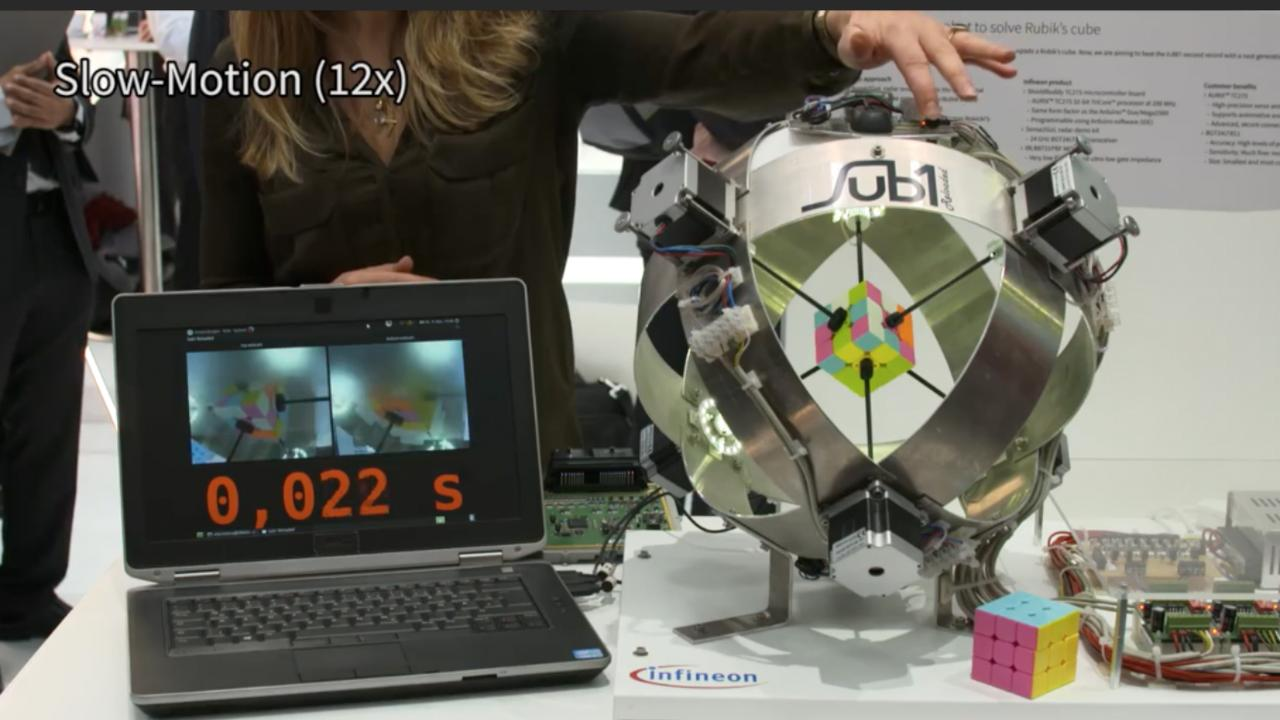 Rubiks kubus in 0,6 seconden opgelost door robot