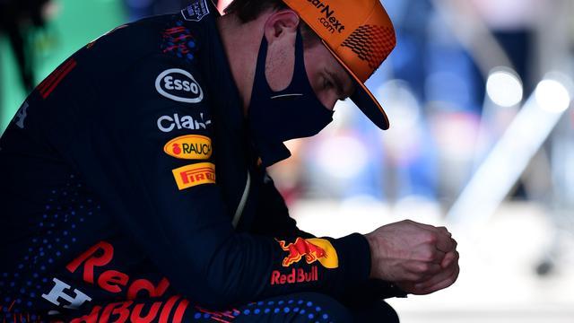 Max Verstappen baalde zichtbaar van zijn derde plek in de kwalificatie.