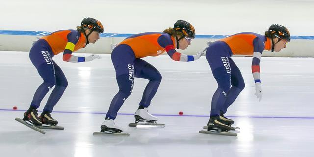 Ook Nederlanders gaan duwen bij ploegenachtervolging, al is het met tegenzin