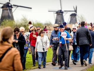 Vorig jaar had Nederland zo'n achttien miljoen buitenlandse bezoekers