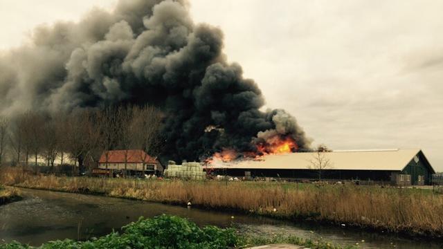 Grote brand in manege in Gorinchem