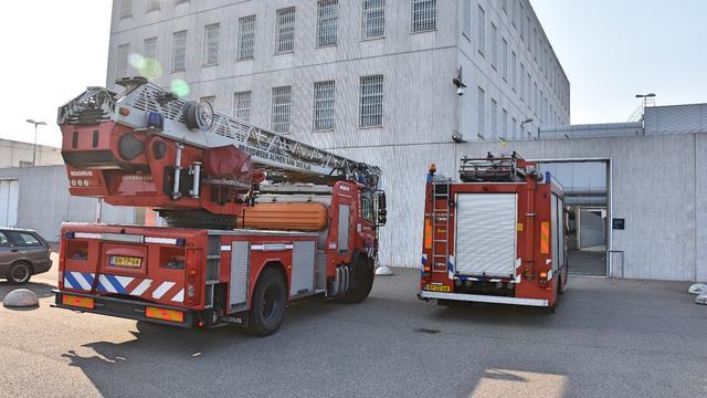 Brand in douches Penitentiaire Inrichting in Alphen aan den Rijn