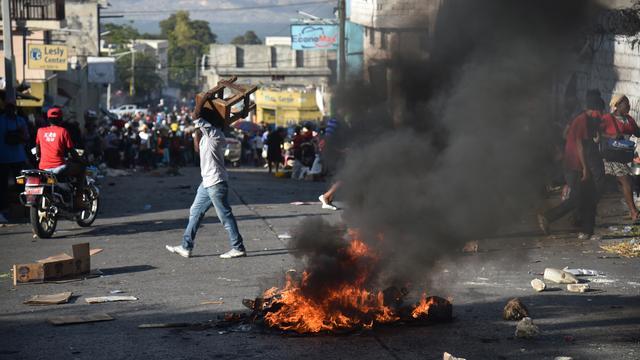 Haïtianen de straat op om te protesteren tegen president Moise