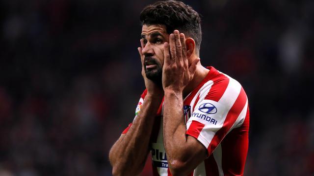 Atlético Madrid voorlopig zonder Diego Costa wegens nekhernia