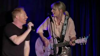 Taylor Swift treedt in New York op met Modern Family-acteur