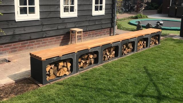 De klusser: 'Onze tuinbank is meteen een opslag voor hout'
