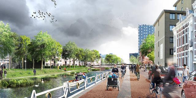 Utrechtse architect pleit voor haventje of waterspeeltuin bij Lombokplein