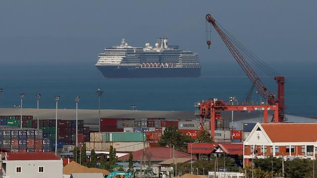 Passagiers Nederlands cruiseschip de Westerdam aangekomen in Cambodja