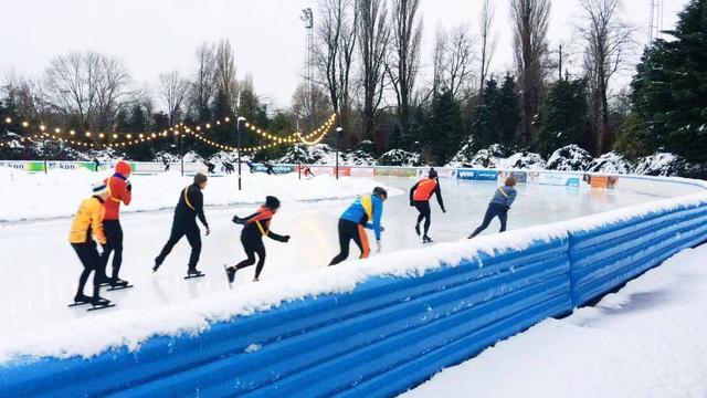 Hier kun je buiten schaatsen wanneer het niet vriest