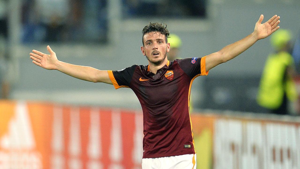 Florenzi (AS Roma) scoort tegen Barcelona