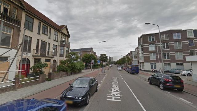 Sloopkogel tegen panden Harstenhoekweg
