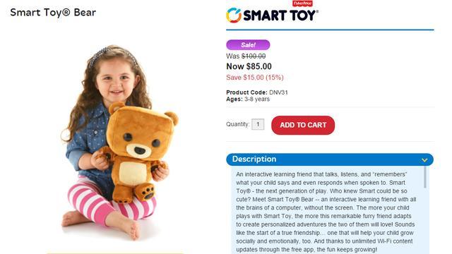 Slimme teddybeer van Fisher-Price kon gehackt worden