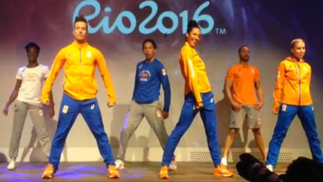 Presentatie olympische kleding Nederland