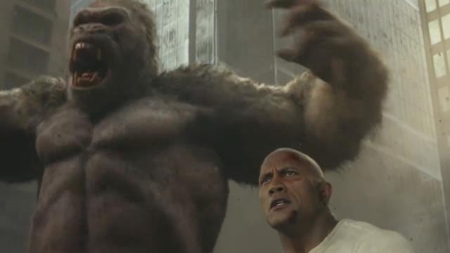 The Rock vecht samen met enorme gorilla in trailer Rampage
