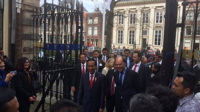 Bliksembezoek Indonesische president Joko Widodo aan Universiteit Leiden