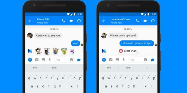 Digitale assistent Facebook Messenger doet suggesties op basis van context