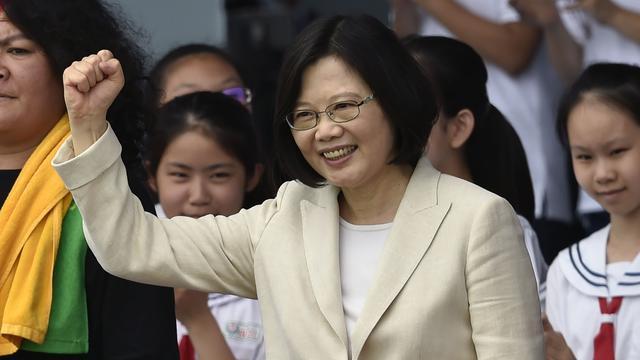 Tsai Ing-wen geïnstalleerd als eerste vrouwelijke president Taiwan