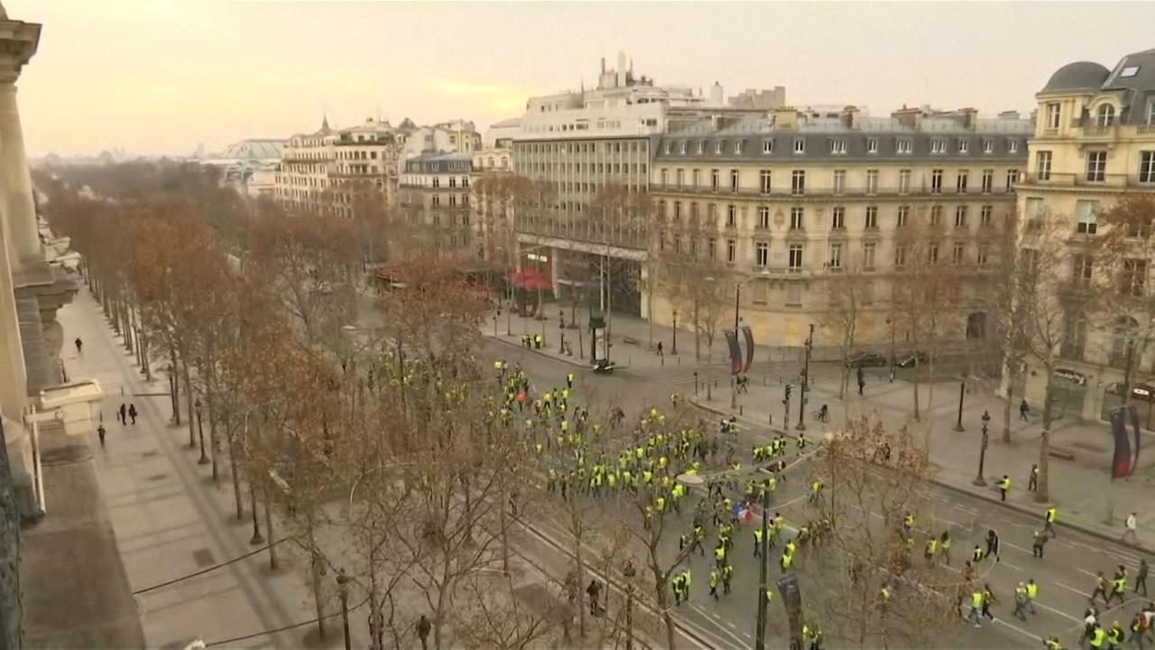 Parijs bereidt zich voor op nieuwe protestdag 'Gele Hesjes'