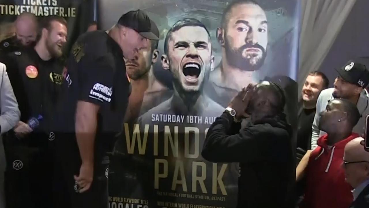 Bokser Wilder verstoort weigh-in Tyson Fury