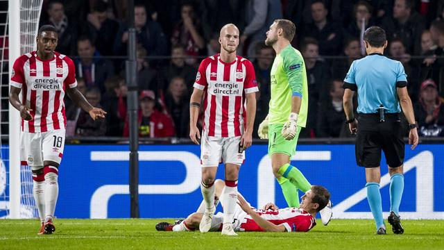 Balende Zoet voelt zich verantwoordelijk voor verlies PSV tegen Inter