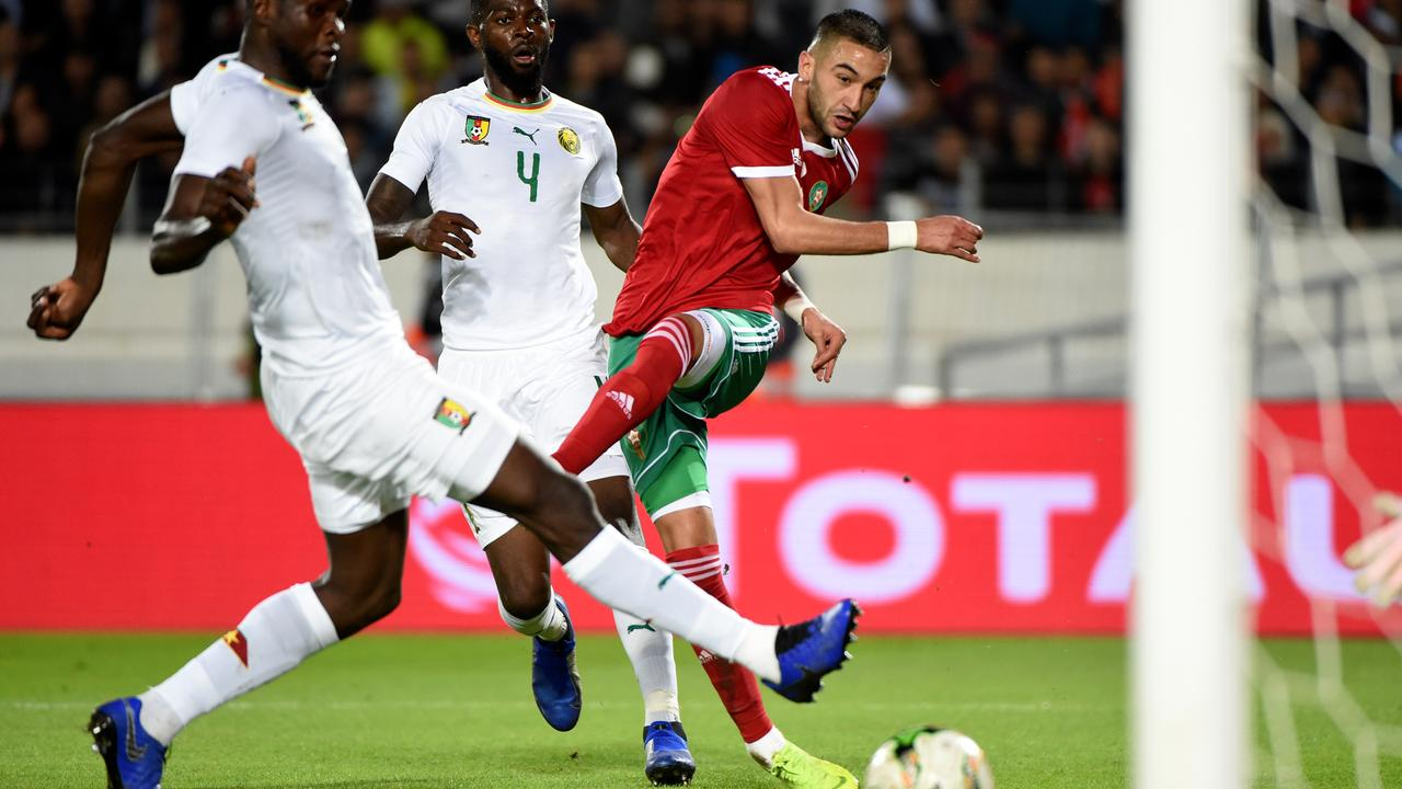 Image result for hakim ziyech morocco africa cup