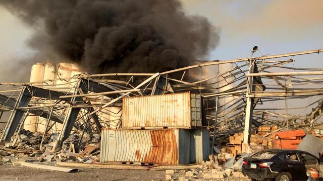 Veel gewonden bij enorme explosie in Libanese hoofdstad Beiroet